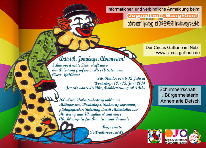 Galliano Circus Workshop