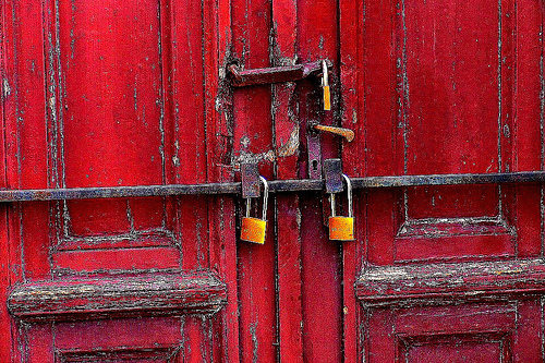 locked door photo